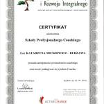 certyfikaty ukon¦üczenia Szko+éy Profesjonalnego Coachingu